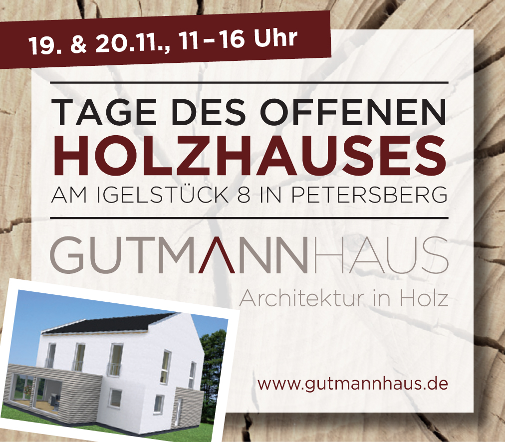 TAGE DES OFFENEN HOLZHAUSES IN PETERSBERG